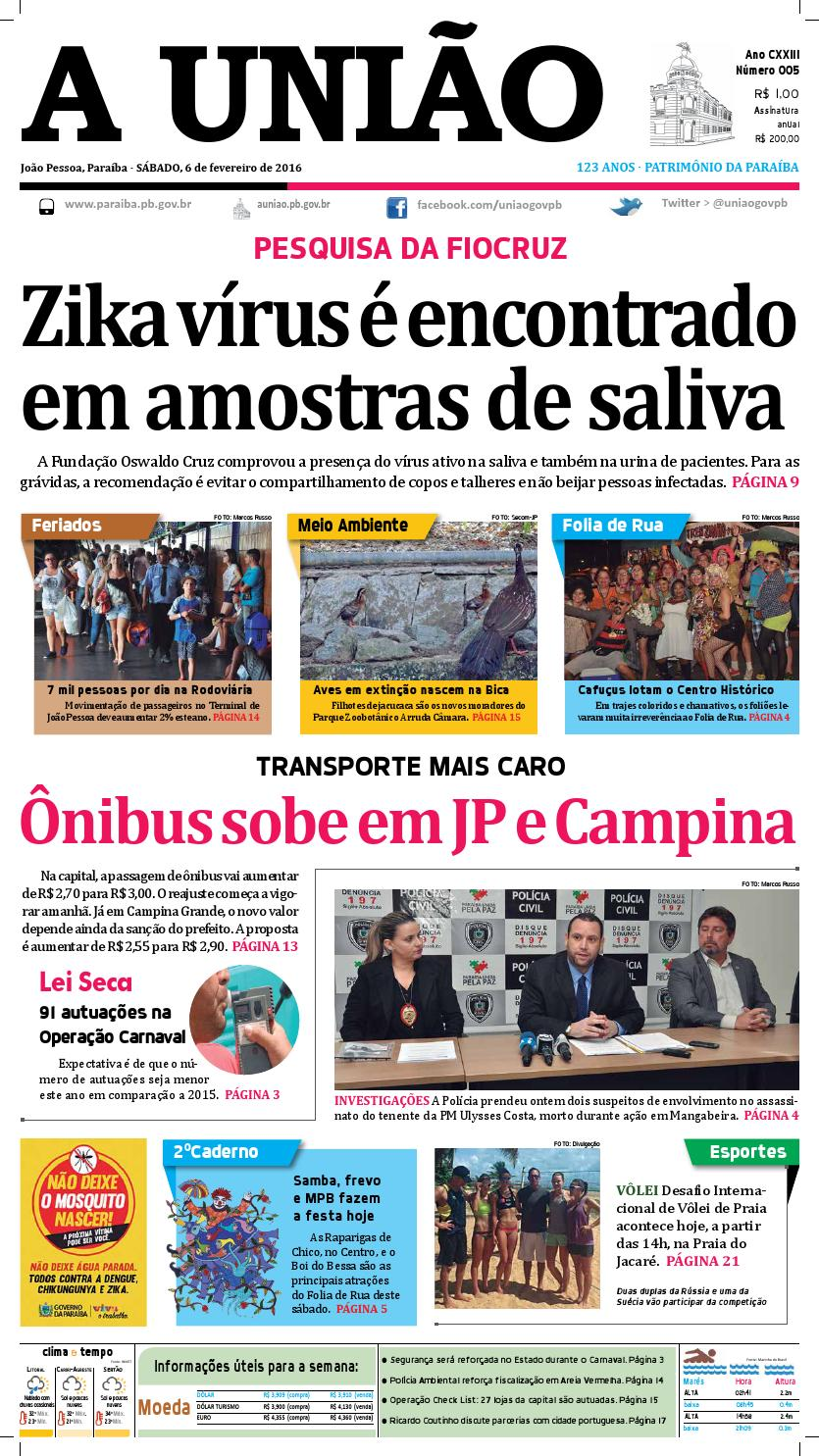 e8f071f030 Jornal A União 06 02 16 by Jornal A União - issuu