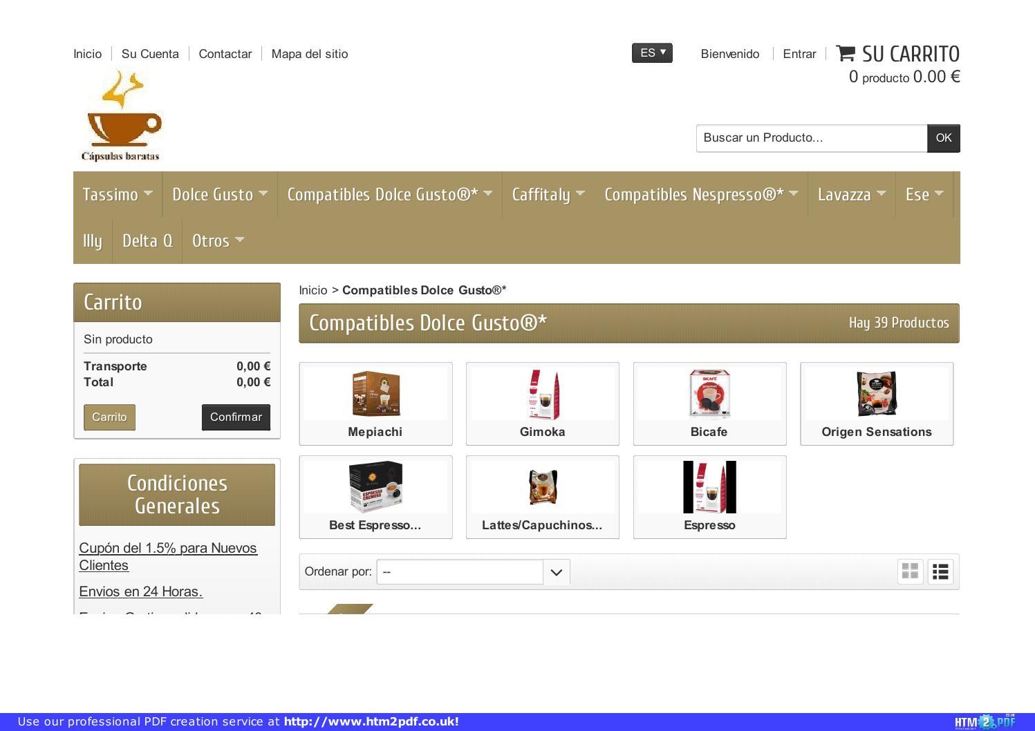 Cat logo de c psulas compatibles dolce gusto by tienda de for Capsulas dolce gusto baratas