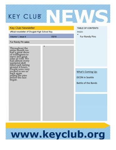 template keyclub key club newsletter word 1 4 by cayden issuu