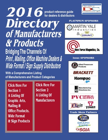 2016 Directory of Manufacturers & Products by Fichera