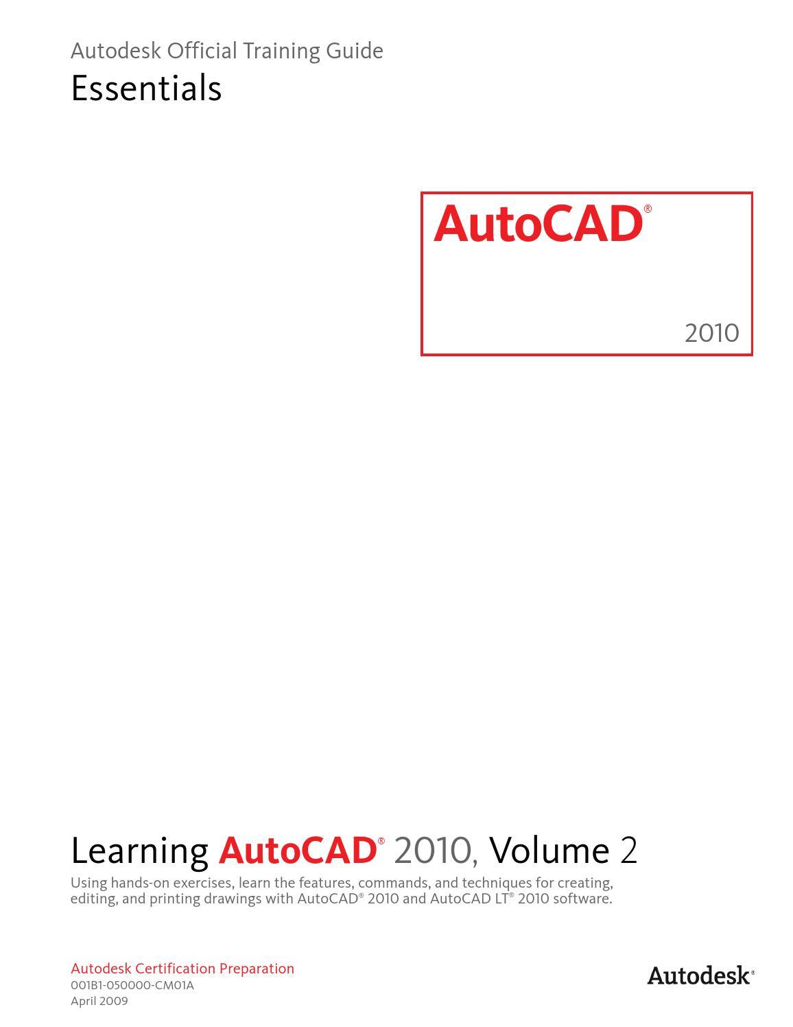 Learning autocad 2010 volume 2 by Goga - issuu