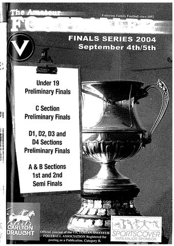 f6515d1b9569c2 Under 19 Preliminary Final s C Section Preliminary Finals D1