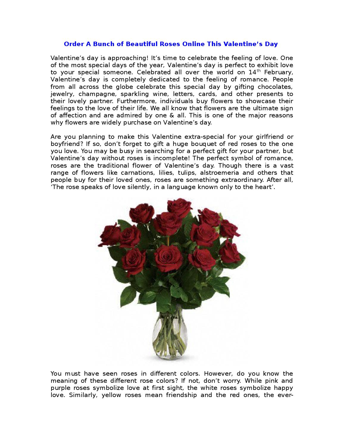 Order a bunch of beautiful roses online this valentines day by order a bunch of beautiful roses online this valentines day by devin mark issuu biocorpaavc Choice Image