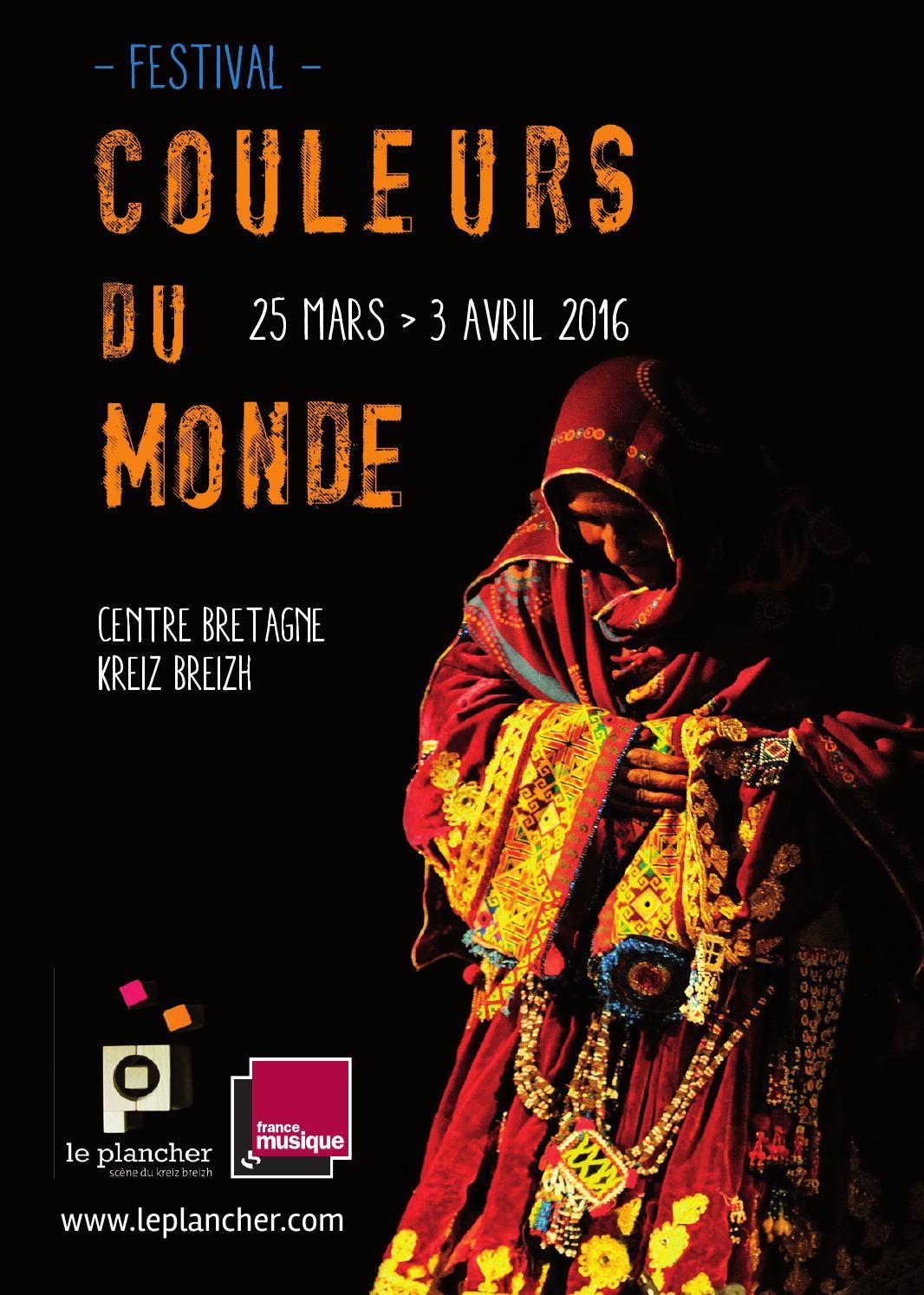 Programme Couleurs Du Monde 2016 By Le Plancher Scene Du