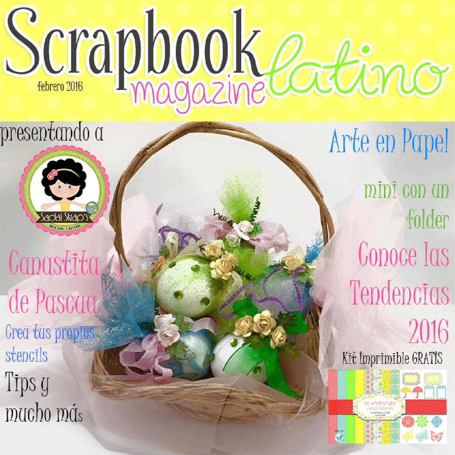 How to scrapbook magazines - Scrapbook Latino Magazine Febrero 2016