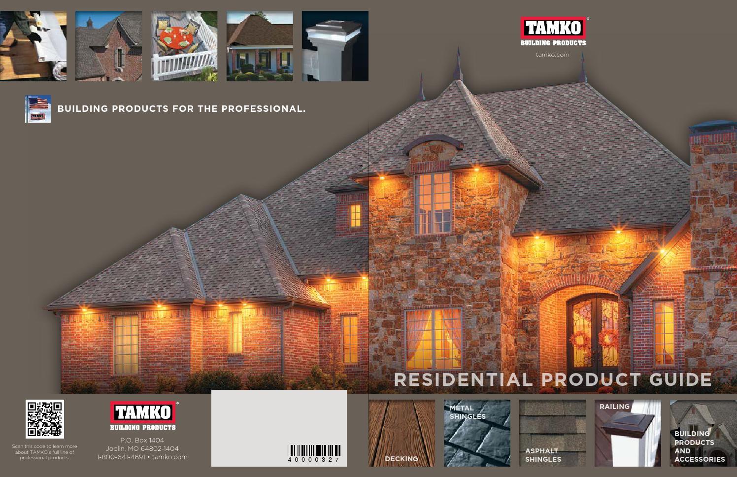 Tamko Full Line Brochure By Meek S Lumber Amp Hardware Issuu
