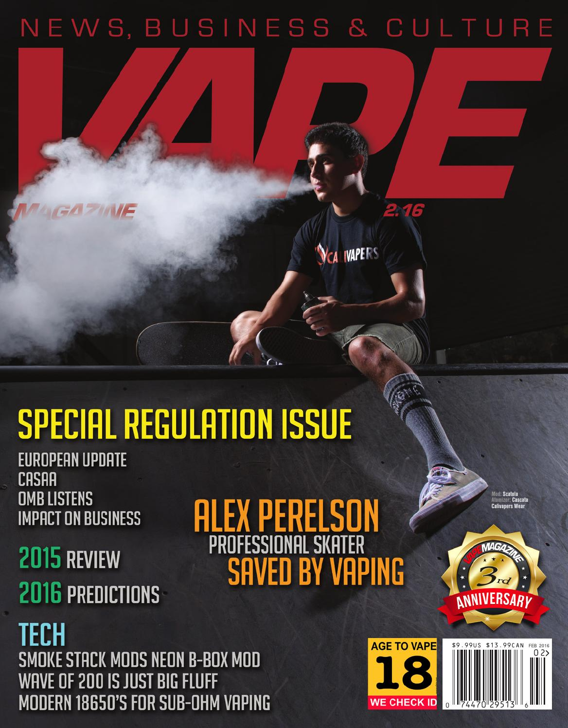 Vape Magazine February 2016 By Matt Schramel Issuu Og Milk Tea Max Vg Usa Premium Eliquid