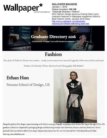 01 01 2016 Wallpaper Magazine By Academy Of Art University School Of Fashion Issuu