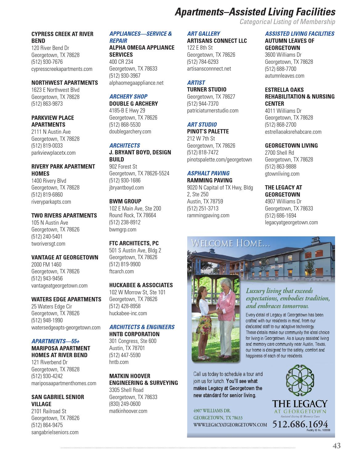 Georgetown Chamber Of Commerce Directory 2015 2016 By Gt