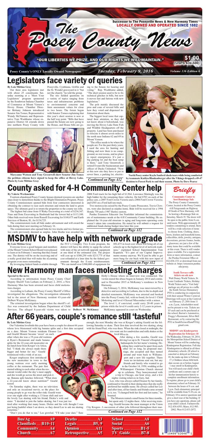February 9, 2016 - The Posey County News by The Posey County News ...