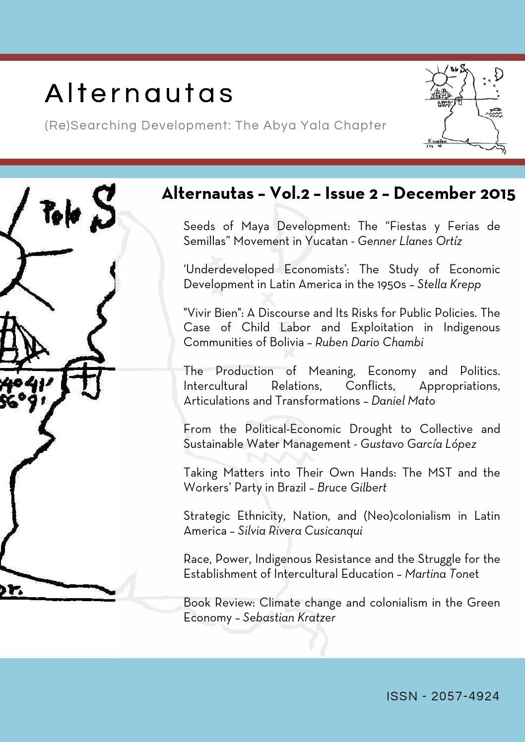 Alternautas Vol 2 Issue 2 - December 2015 by Alternautas