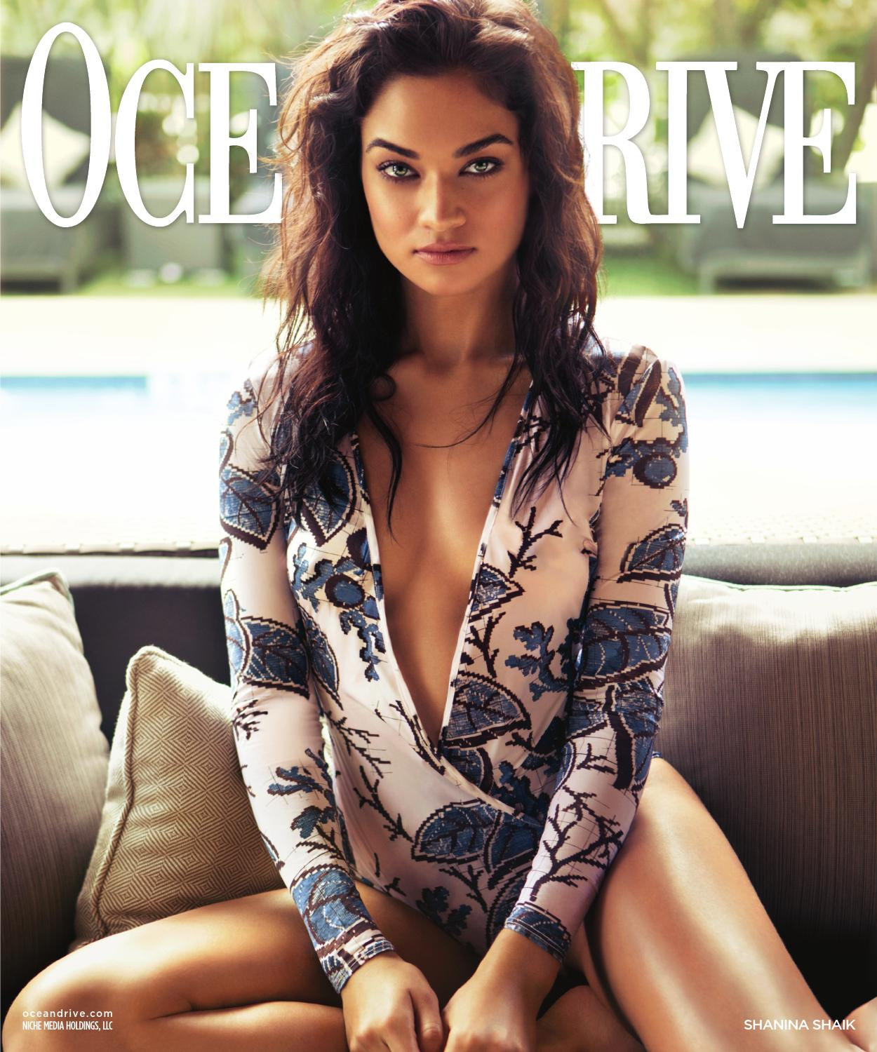 Ocean Drive 2016 Issue 2 February Shanina Shaik By