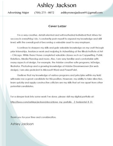 Resume & cover letter by Ashley R. Jackson - issuu