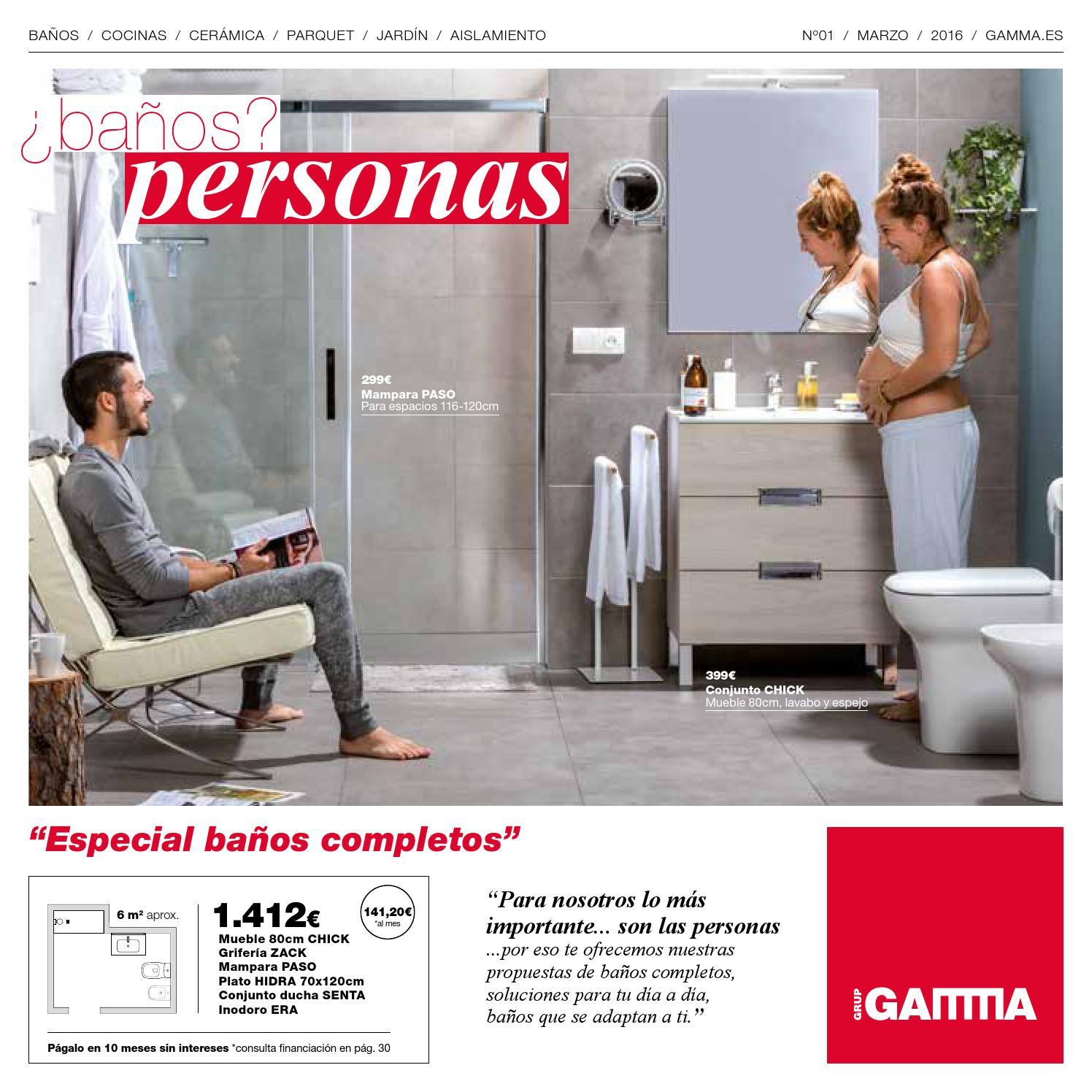 Folleto cuartos de baño Marzo 2016 by GRUP GAMMA - issuu