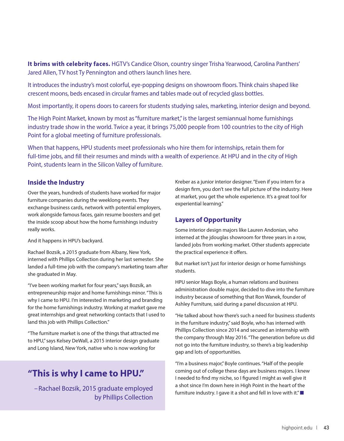 High Point University Magazine | Winter 2016 by High Point