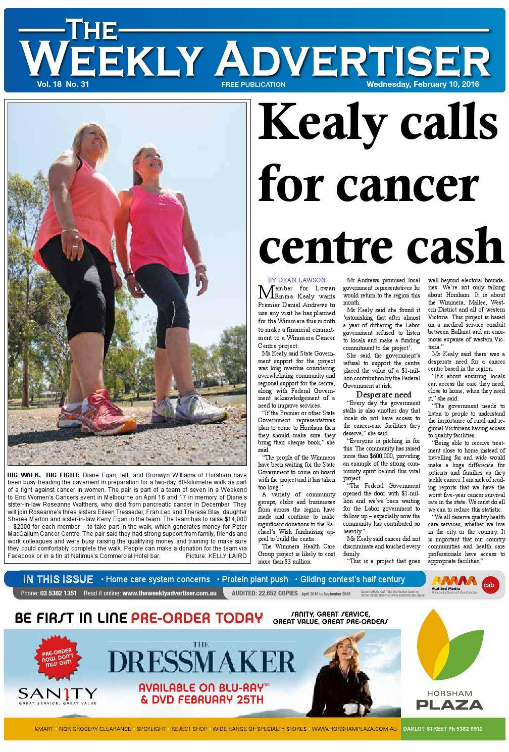 524a1366 The Weekly Advertiser - Wednesday, February 10, 2016 by The Weekly ...