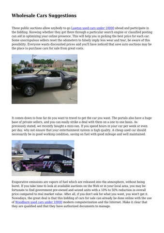 Wholesale Cars For Sale >> Wholesale Cars Suggestions By Sprintcarsforsale Issuu