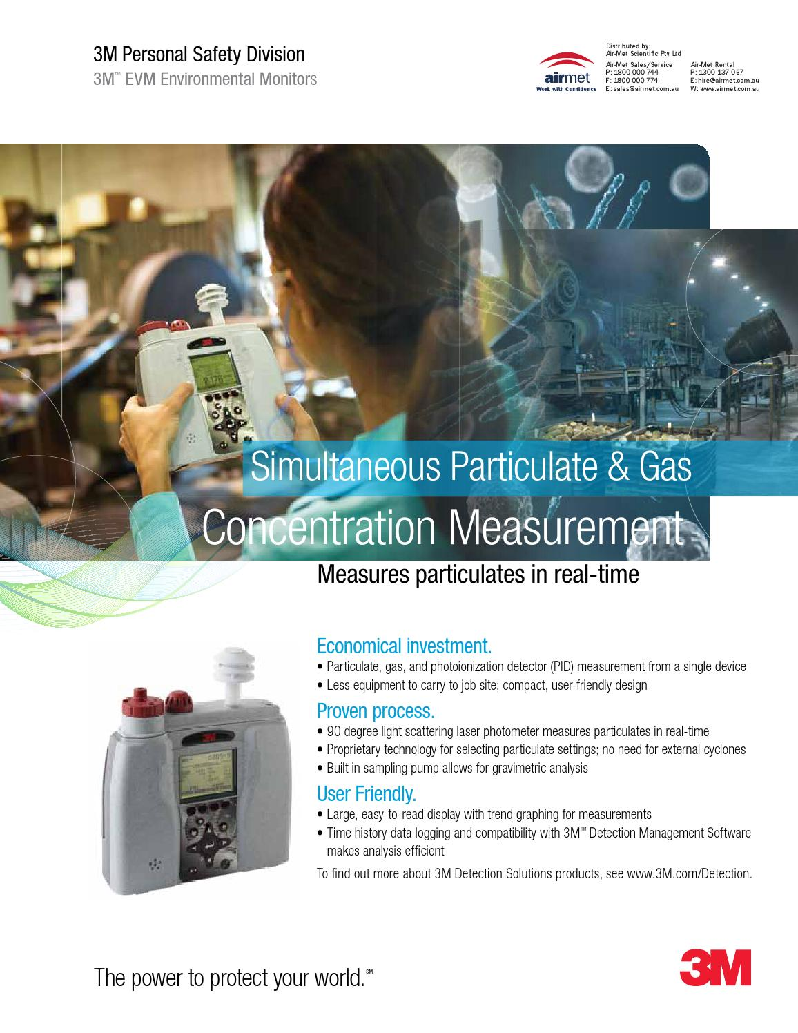 3M EVM Environmental Monitoring Specifications by Air-Met