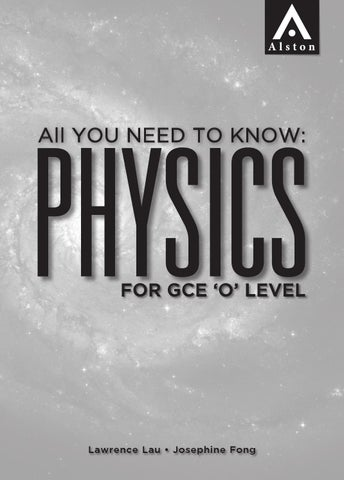 Physics For GCE O Level By Alston Publishing House Issuu