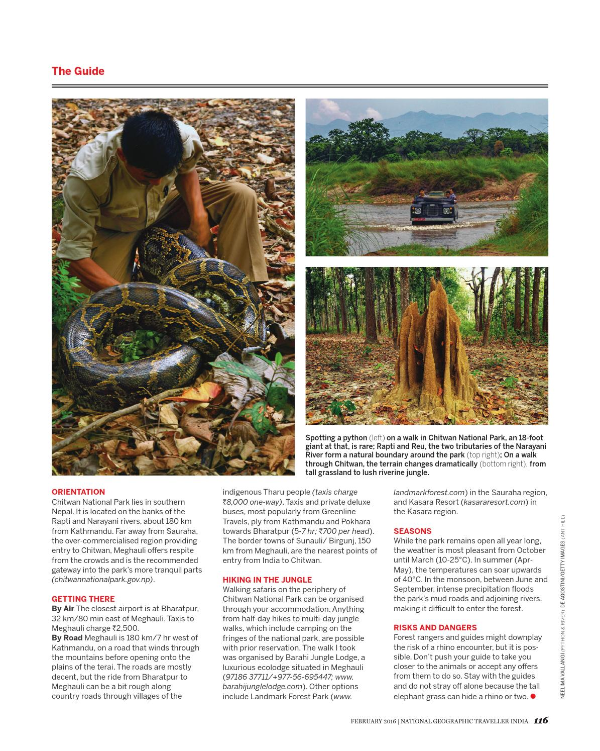 National Geographic Traveller India February 2016 by