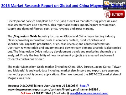 Global and china magnesium oxide industry by Sabra Johnson - issuu