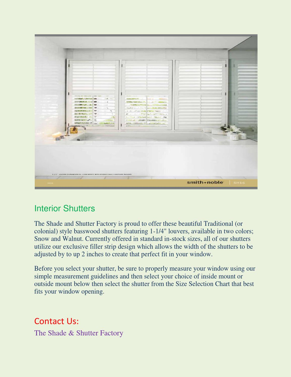 Interior Shutters By Theshadeshutter Issuu