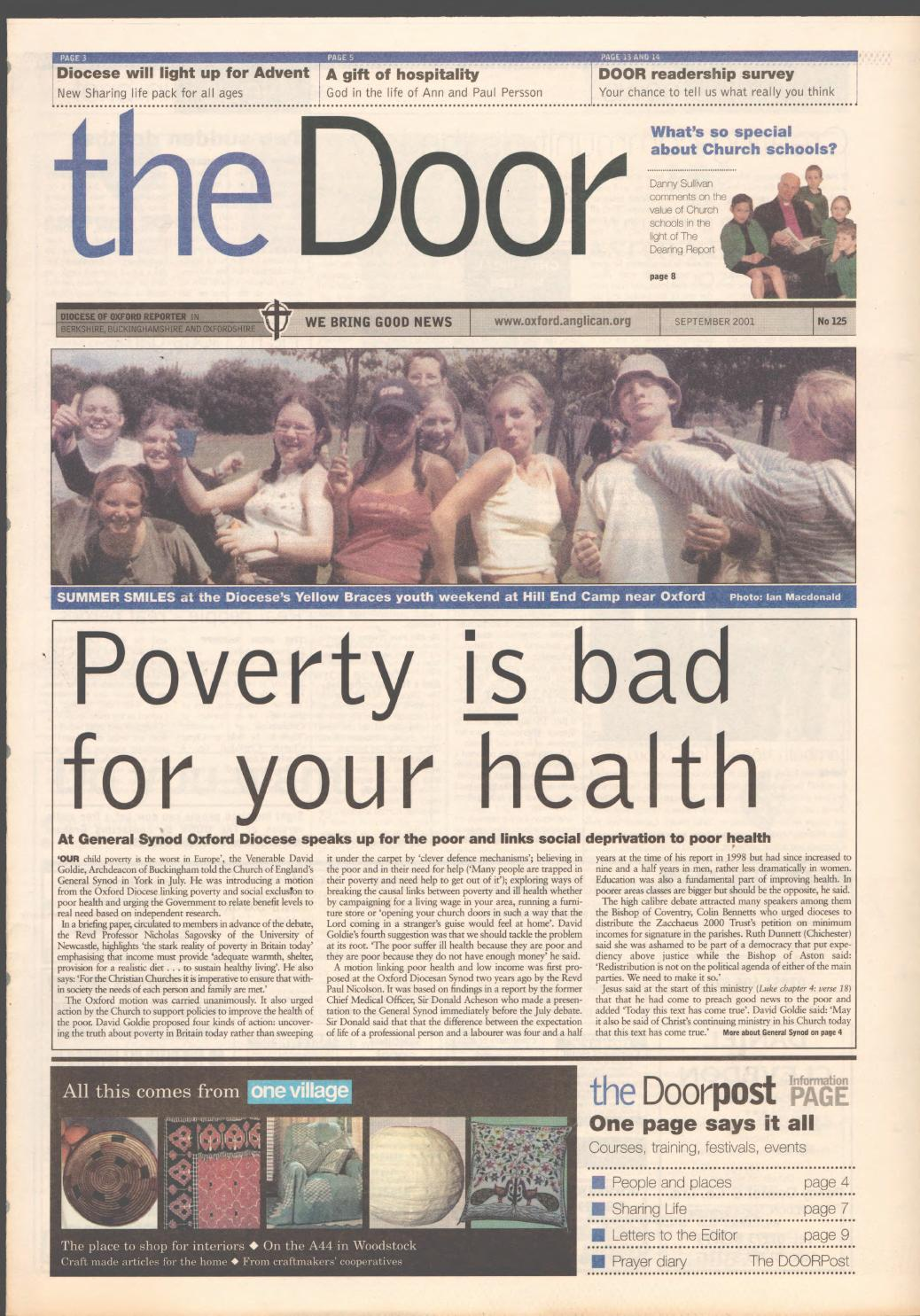 #125 September 2001 by Diocese of Oxford - issuu