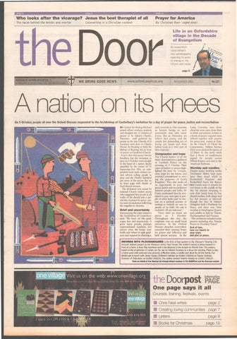 127 November 2001 By Diocese Of Oxford Issuu