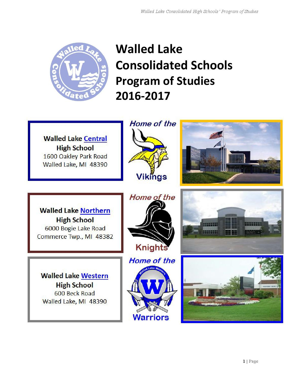 WLCSD High School Program of Studies for 2016-2017 by Mark Hess - Issuu