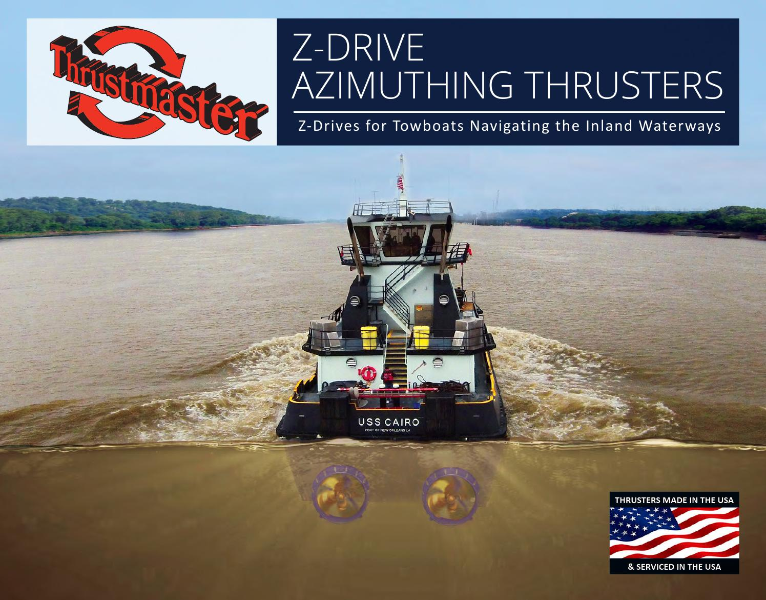 Z-Drive Azimuthing Thrusters for Towboats Operating in the ...