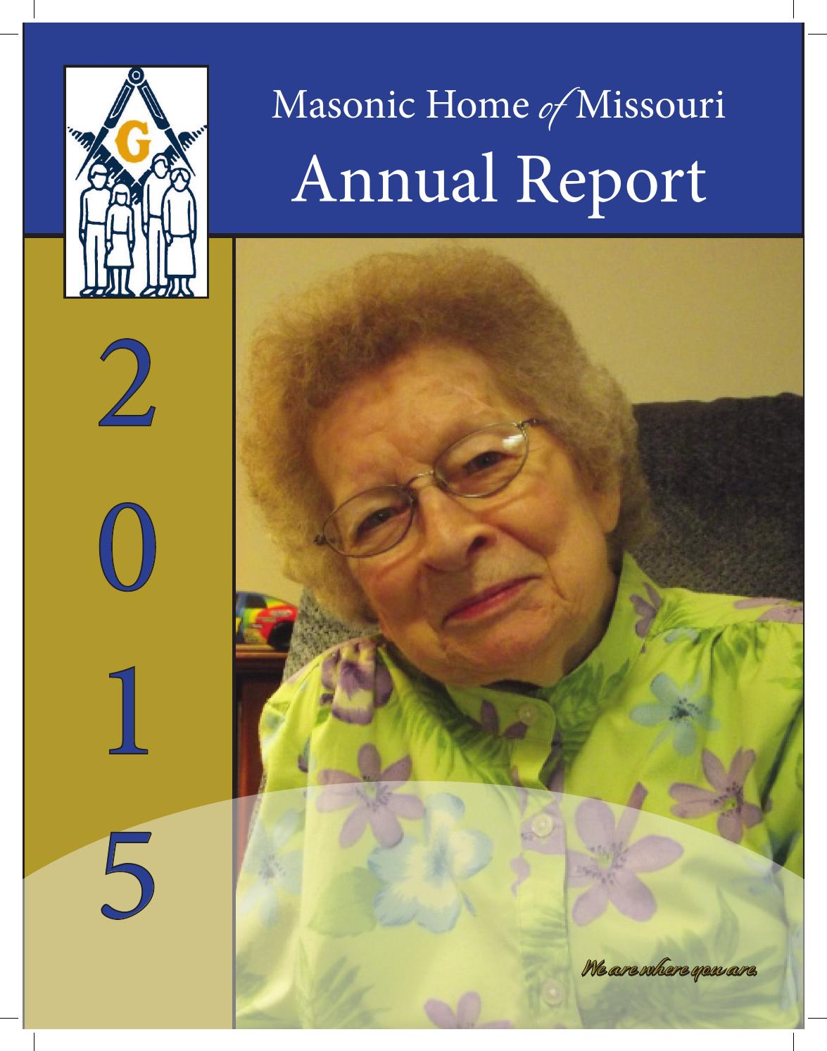 Masonic Home of Missouri Annual Report 2015 by Masonic ...