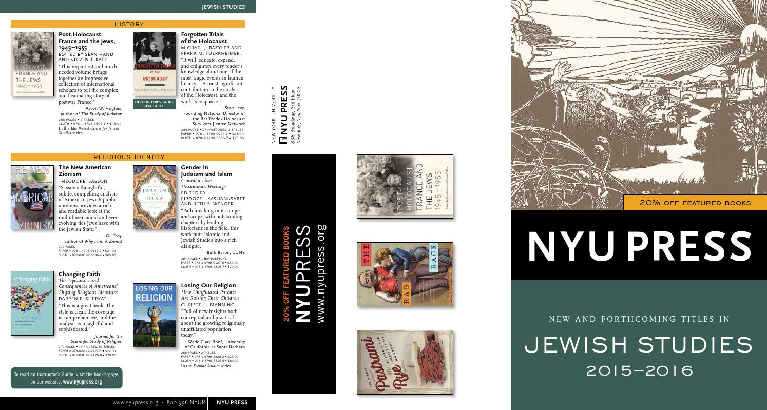 A History of the Jews of New York, 3-volume box set
