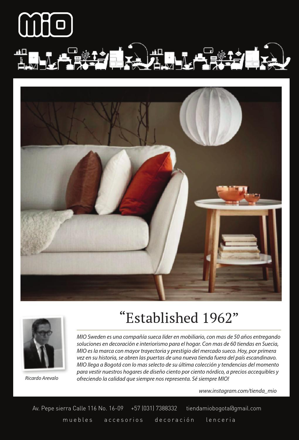 Revista Dc La Gu A Distinta Y Creativa De Bogot Edici N N 73  # Muebles Mio Suecos