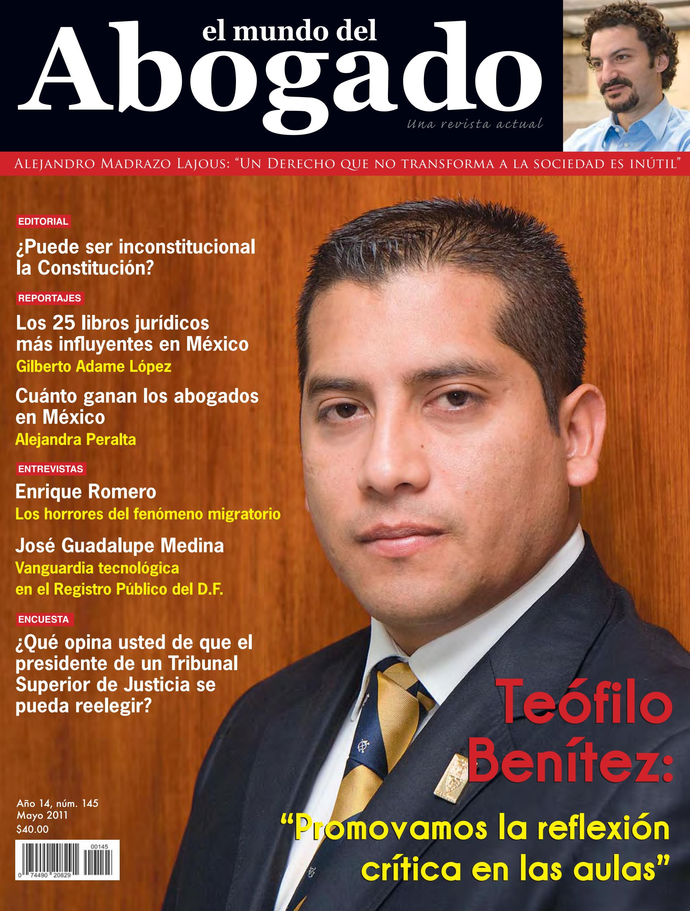 Edición #145 - Mayo 2011 by El Mundo del Abogado - issuu