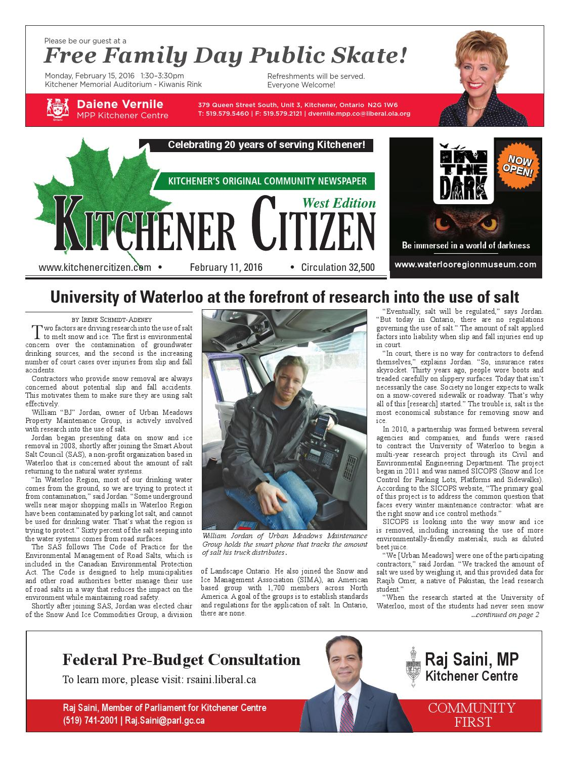 Kitchener Citizen - West Edition - February 2016 by Kitchener ...