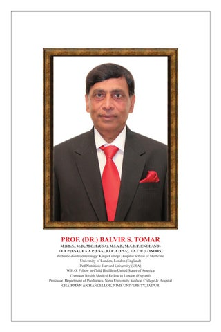 Achivements of NIMS Chairman by Dr Balvir Singh Tomar - issuu