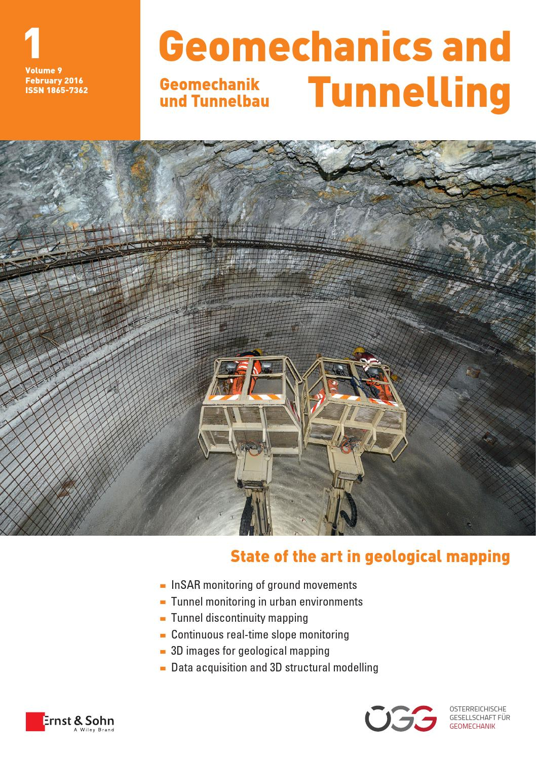 Geomechanics and Tunnelling 01/2016 free sample copy by Ernst ...