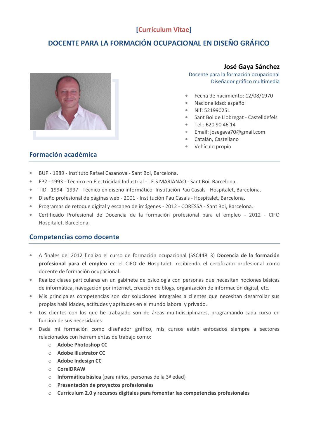 Curriculum Vitae by Jose Gaya - issuu