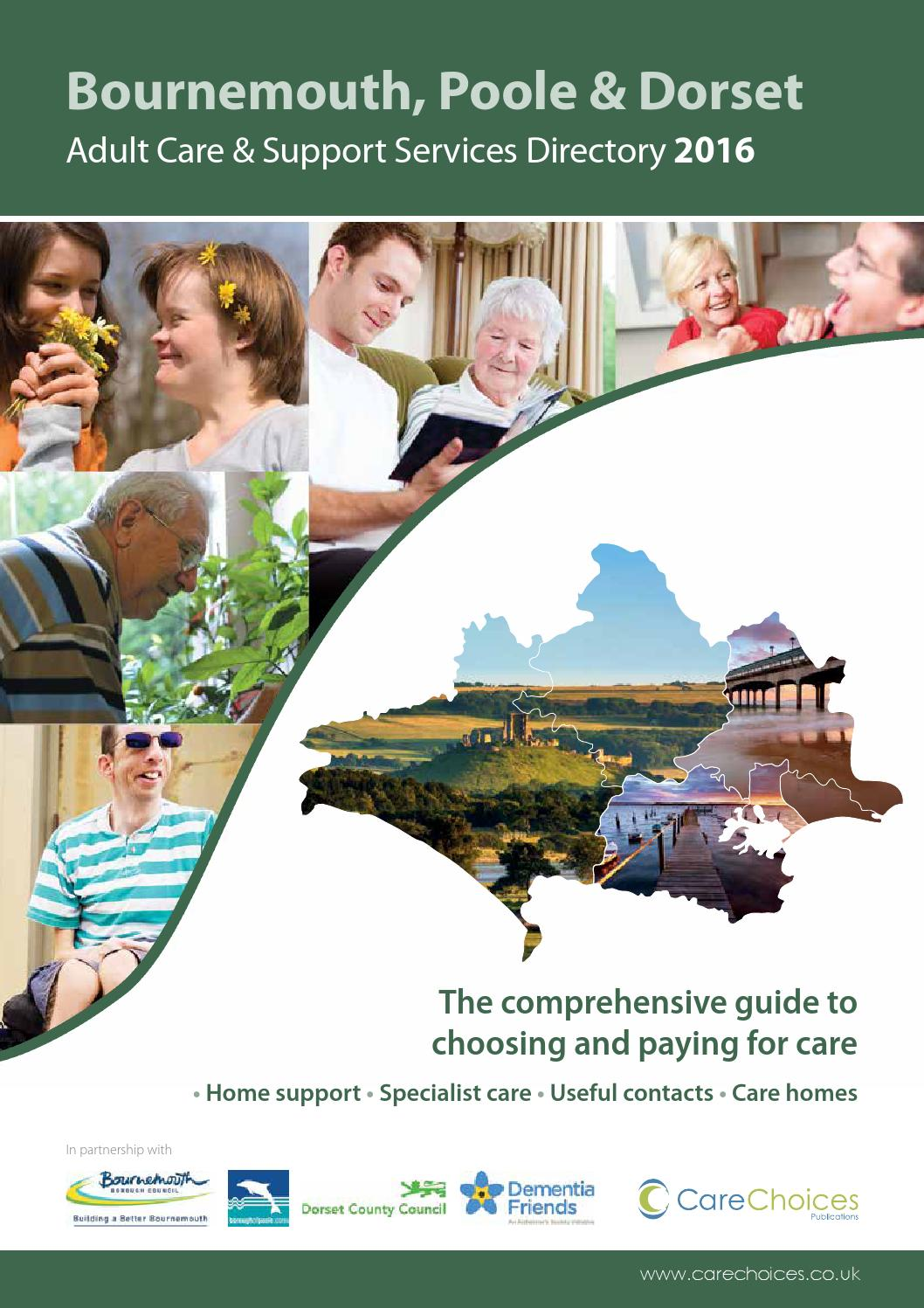Bournemouth Poole Dorset Adult Care Support Services Directory 2016 By Choices Ltd