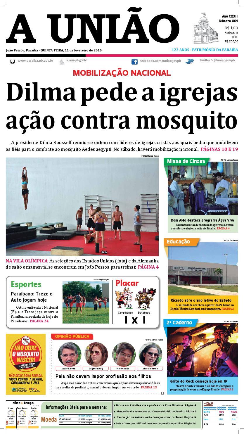 Jornal 11 02 16 by Jornal A União - issuu 87adbf245301c