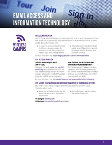 NYU Tandon School of Engineering Welcome Guide by Spark451