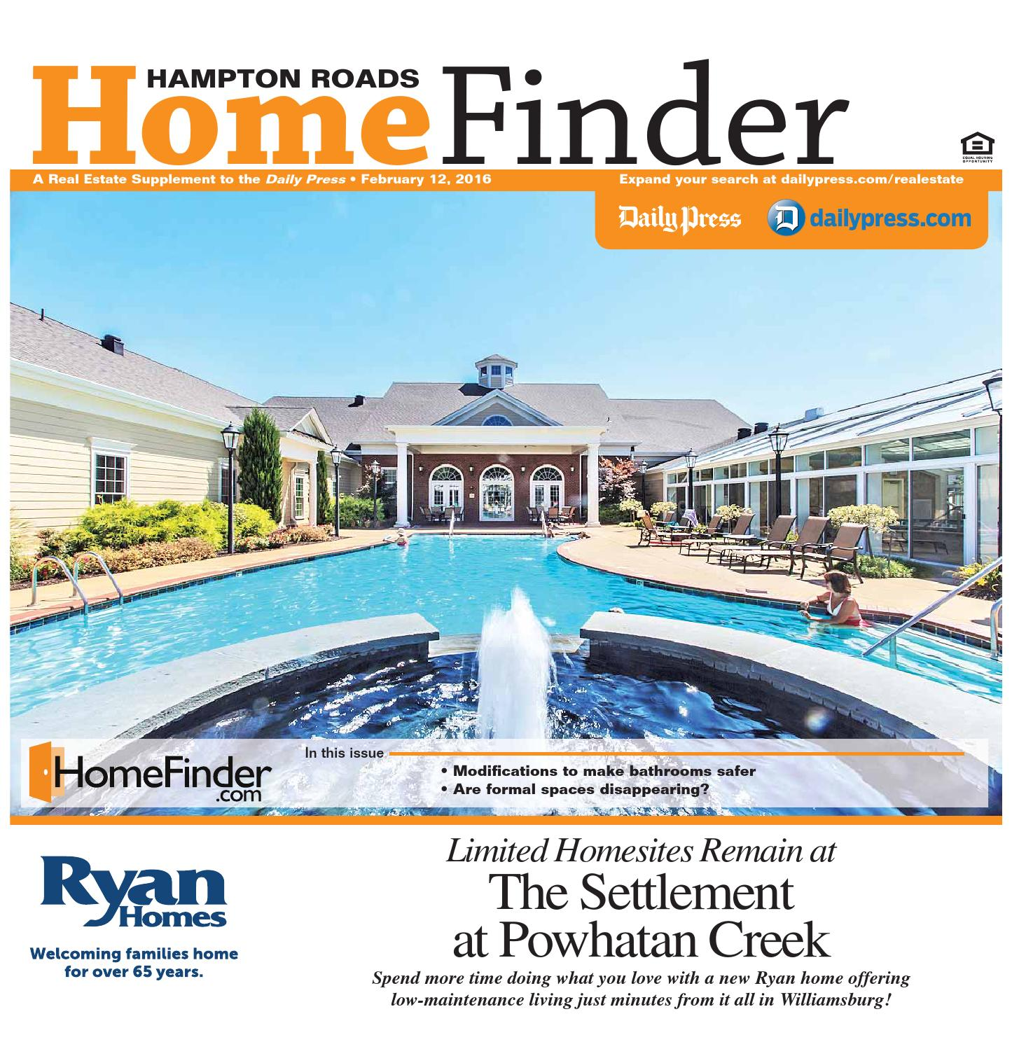 Home Finder For Rent: February 12, 2016 By Daily Press Media Group