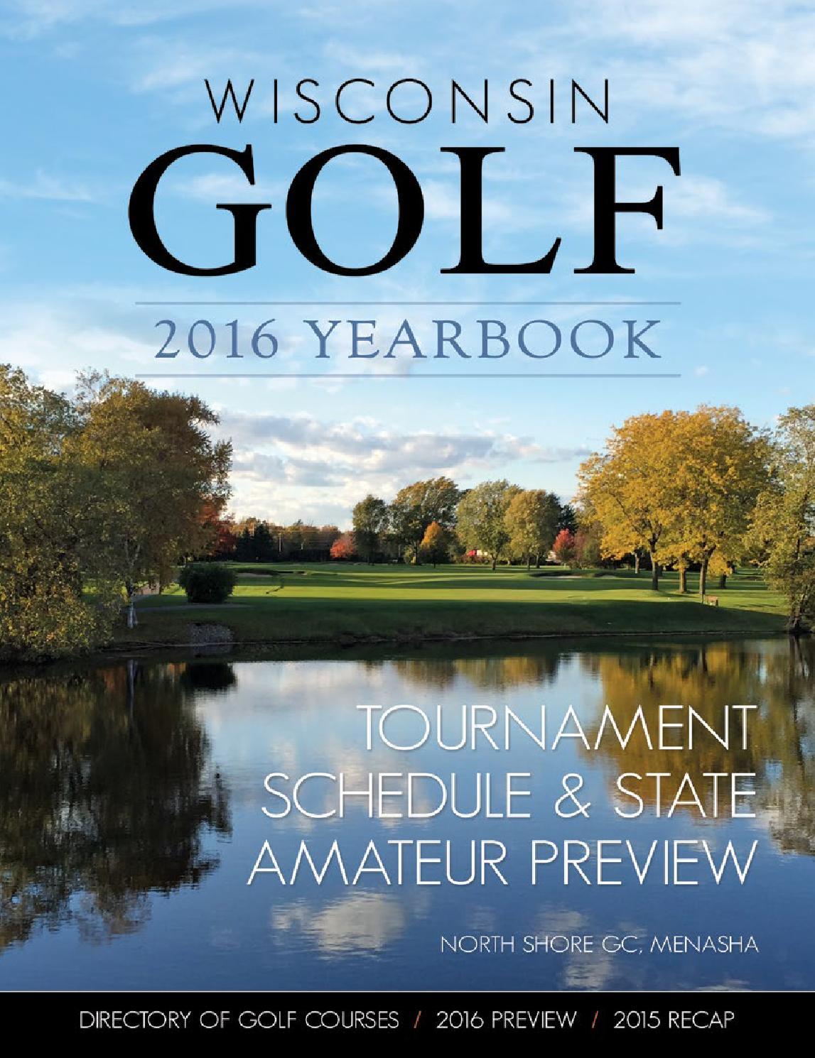 Wisconsin Golf 2016 Yearbook