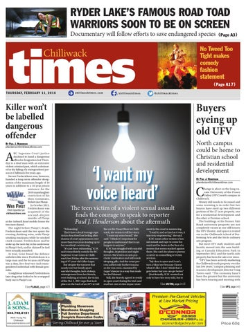 Chilliwack times february 11 2016 by chilliwack times issuu page 1 sciox Choice Image