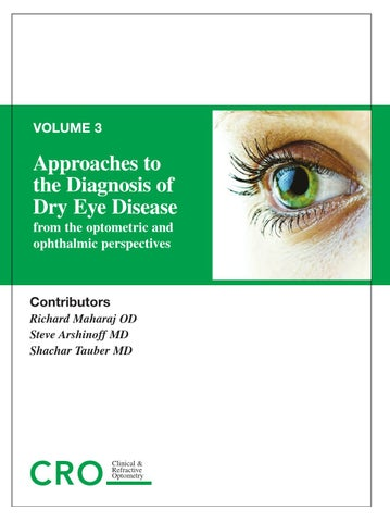Approaches to the Diagnosis and Treatment of Dry Eye Disease: Vol 3