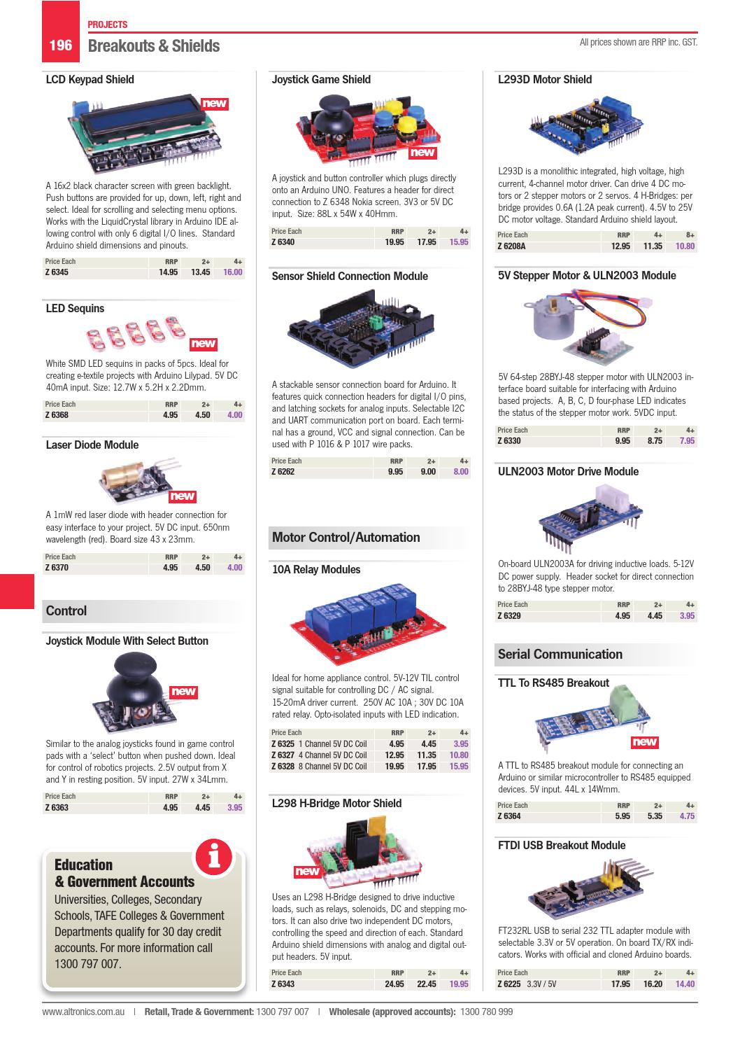 2016 17 Altronics Build It Yourself Electronics Catalogue By Interfacing Relay With Pic Microcontroller Using Uln2003 Altronicsau Issuu