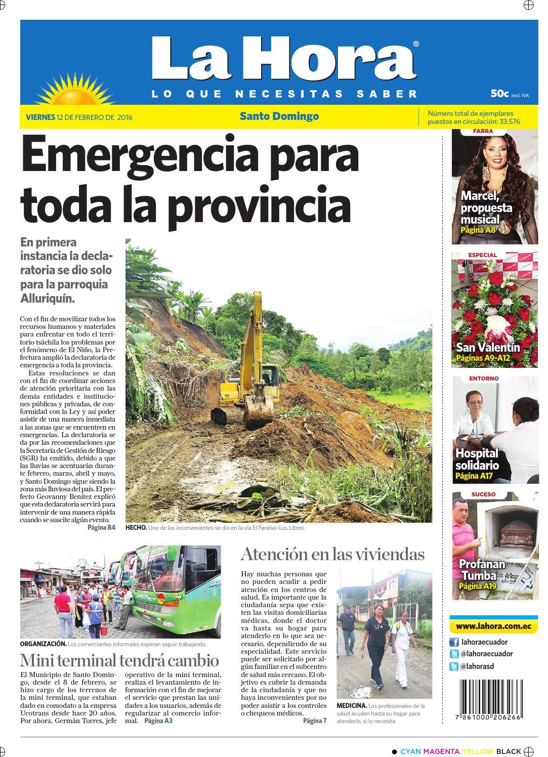 separation shoes ab0cd 1f55b Santo Domingo 12 de febrero de 2016 by Diario La Hora Ecuador - issuu