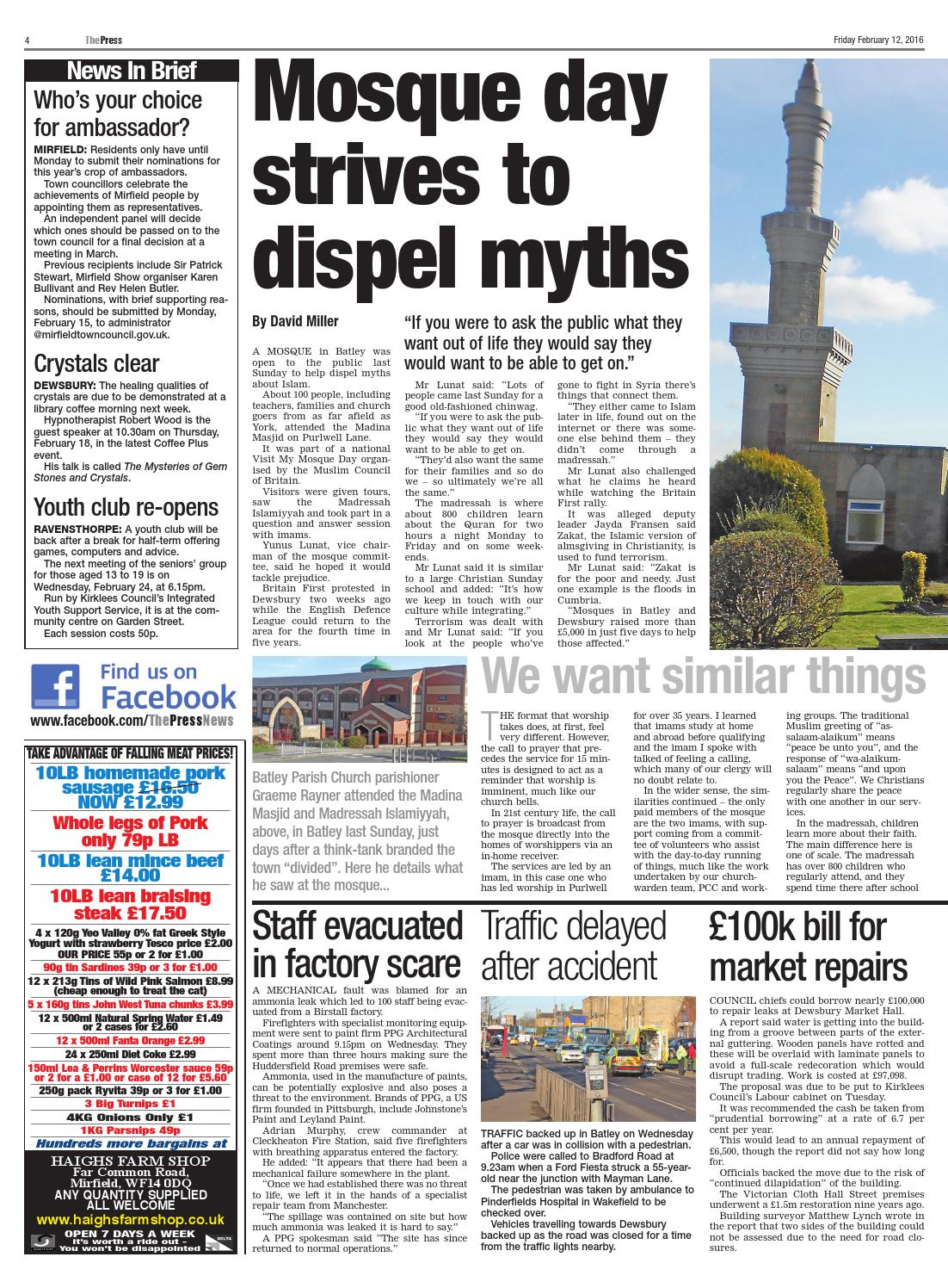 The press 12th feb by Yorkshire Web - issuu