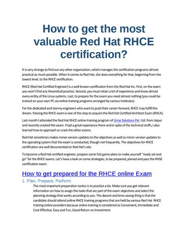 red hattm rhce certification exam preparation via online rhce