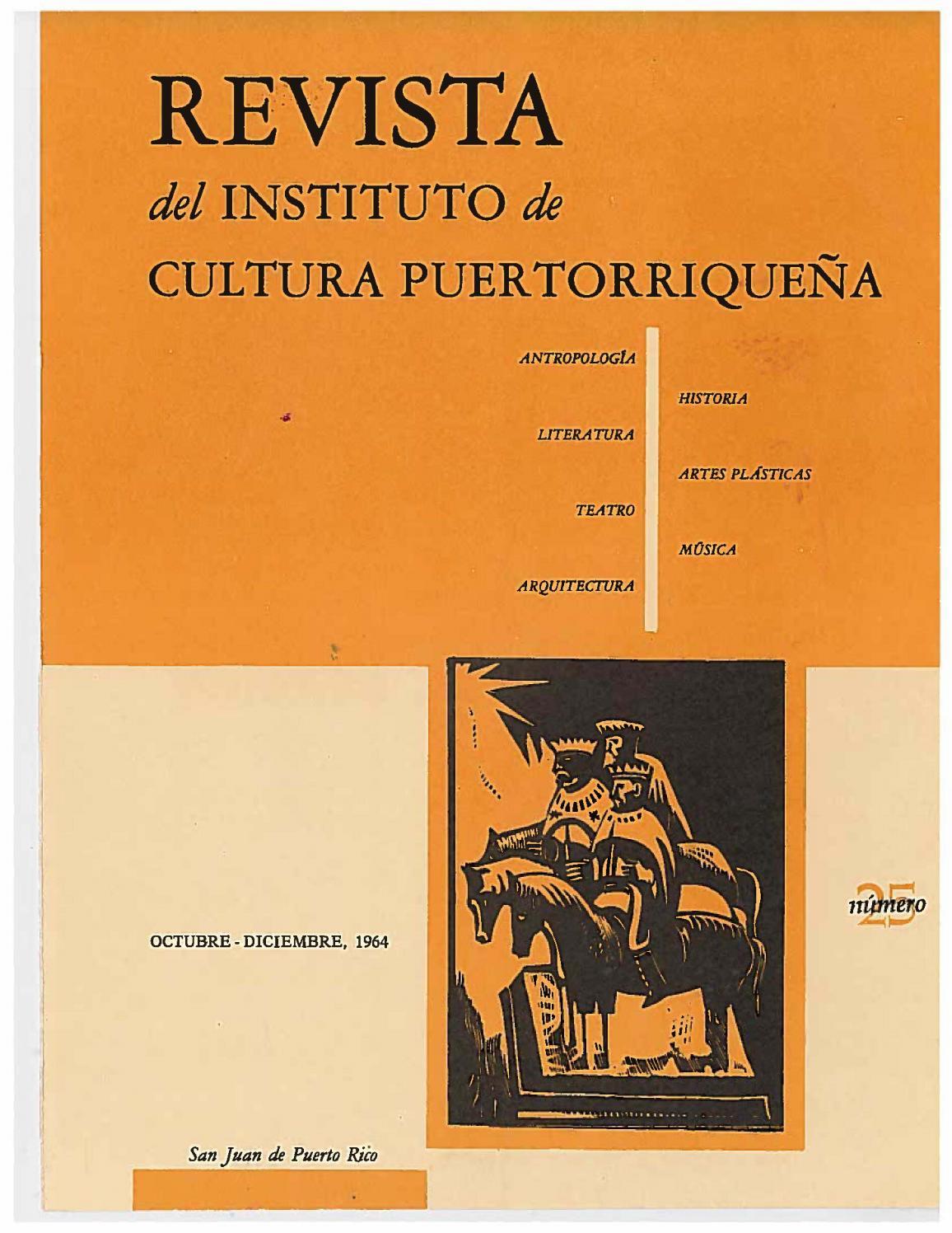Revista del Instituto de Cultura by Colección Puertorriqueña UPR RP ...